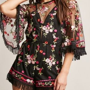 Pants - EMBROIDERED ROMPER
